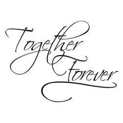 None - 'Together Forever' Vinyl Wall Art Quote - Declare your sincere intentions to never part from a loved one with this Together Forever black vinyl wall art. The words are easy to display for the world to see,as you can place the self-adhesive artwork onto any available smooth surface.
