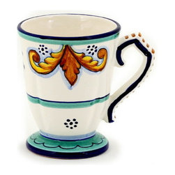 Artistica - Hand Made in Italy - PRINCIPE: Scalloped Mug - PRINCIPE Collection: Classico Dinnerware
