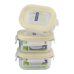 Glasslock 6pc Rectangle Baby Box Set - Includes 3 x 0.6 cup