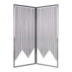 Screen Gems - Screen Gems Ensemble Screen - 84 Inch - High design stainless steel all metal 2-panel screen. The Ensemble is a modern up-to-the-minute.
