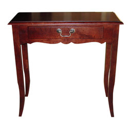 Cooper Classics - Gloucester Cherry Table - A small very tradtional Cherry finish table with brass hardware, lovely in any spot.