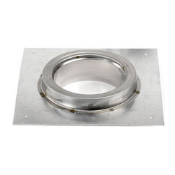 """SELKIRK CORPORATION - 7"""" Supervent Adaptor Plate, Galvanized with Stainless Collar - 7"""" Supervent adaptor plate, galvanized with stainless collar"""