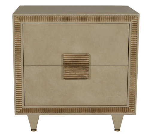 """Berliner Two Drawer Chest - Berliner Two Drawer Chest. Style no: CA22305. 30""""W x 21""""D x 28""""H. Material: Wood. Finish/Accents: As specified. Also available as a Four Drawer Chest. Custom sizing available. Designed by Shah Gilani, ASFD."""