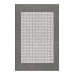 Couristan 1005-3012 Recife Grey Indoor/Outdoor Rug - The Couristan 1005-3012 Recife Grey Indoor/Outdoor Rug has got the kind of cool confidence that doesn't have to show off. Cool chic and versatile this calming area rug is made for indoor or outdoor use. It's crafted of machine-made polypropylene that's durable enough to withstand the weather but still elegant enough to grace your dining or living room. It features a simple solid grey center with a darker grey border to create a subtle style. Spot-clean only to preserve the posh elegance of this silent stunner.About Couristan RugsThe renowned Couristan Rug Company is headquartered in Fort Lee New Jersey. The company continues to take great pride in its 78 year-old commitment to excellence by weaving four key components - Trust Style Quality and Innovation into each and every product it imports or manufactures. This commitment has earned the company a long-standing and successful position in the floor covering industry while providing its customers with the highest levels of design value and customer service.