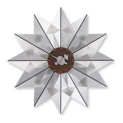 Vitra - Vitra Nelson Flock of Butterflies Wall Clock - Tick tock, tick tock. Prismatic elegance, whimsical detail and midcentury artistry — all united in this exquisite timepiece. This clock will up the level of fabulousness in your family room.