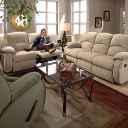 Recline Designs - Gabriella Queen Sleeper Sofa, Console Loveseat, Rocker Recline - 1 Southern Recline Queen Sleeper Sofa 705-36