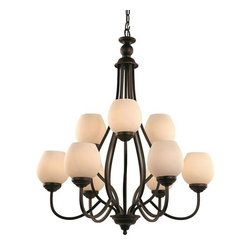 Trans Globe Lighting - Trans Globe Lighting 70539 ROB Chandelier In Rubbed Oil Bronze - Part Number: 70539 ROB