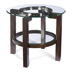 Bassett Mirror Company - Bassett Mirror T1705-220 Oslo Round Glass Top End Table - Round End Table w/ Glass Top belongs to Oslo Collection by Bassett Mirror Company Bassett Mirror is fluent in this art, showing a terrific contemporary furniture that will satisfy on the one hand fans of home coziness, and on the other hand - seekers of non-standard design solutions also. One of the many strengths of the Bassett Mirror is using high quality materials for perfect embodiment of brilliant design ideas. End Table (1)