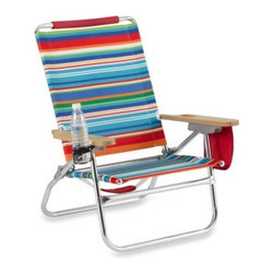 All-luminum Products Inc/import Div - The Genuine Beach Bum Beach Chair - The Genuine Beach Bum Beach Chair offers everyone's favorite features and accessories for a comfortable stay at the beach or by the pool. Made with a rust resistant aluminum frame with steel seat.