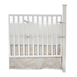 Pebble Moon Crib Bedding Set 4 Piece Set - Pebble Moon Crib Bedding Set 2 Piece Set