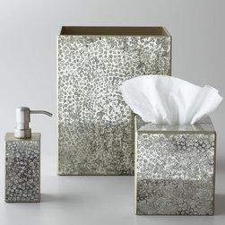 """Waylande Gregory - """"Mosaic Metallic"""" Wastebasket - Waylande Gregory""""Mosaic Metallic"""" Wastebasket"""