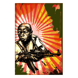 "Maxwell Dickson - Maxwell Dickson ""Child Soldier"" Pop Art Modern Canvas Wall Art Print - We use museum grade archival canvas and ink that is resistant to fading and scratches. All artwork is designed and manufactured at our studio in Downtown, Los Angeles and comes stretched on 1.5 inch stretcher bars. Archival quality canvas print will last over 150 years without fading. Canvas reproduction comes in different sizes. Gallery-wrapped style: the entire print is wrapped around 1.5 inch thick wooden frame. We use the highest quality pine wood available."