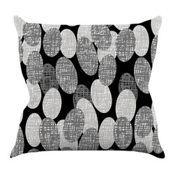 "Kess InHouse - Jacqueline Milton ""Seeds - Monochrome"" Black White Throw Pillow (26"" x 26"") - Rest among the art you love. Transform your hang out room into a hip gallery, that's also comfortable. With this pillow you can create an environment that reflects your unique style. It's amazing what a throw pillow can do to complete a room. (Kess InHouse is not responsible for pillow fighting that may occur as the result of creative stimulation)."