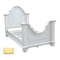 "Tradewinds - Hand Painted Arched Twin Bed, Yellow - Make bedtime more fun and comfortable for your kids by incorporating the hand painted arched twin bed a part of their room. Well-made, it measures H"" 55 