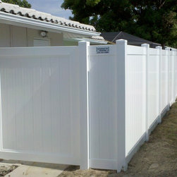 Vinyl Fence Installations - 6' white vinyl privacy fence by A Perfect 10 Fencing