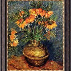 Amanti Art - Crown Imperial Fritillaries in a Copper Vase, 1886  by Vincent van Gogh - Only Vincent van Gogh could infuse a vase of flowers with such vibrancy and motion. The famous Post-Impressionist artist saw movement everywhere. In this simple floral still life, do you see Van Gogh's deep, swirling skies and rich, rolling fields?
