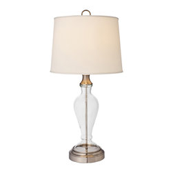 Modern Lantern - Ashford Nickel Cordless Table Lamp - With its glass base, this lamp will help you see things more clearly. Best of all, it has a cordless design that allows you to place it anywhere you like without having to worry about electrical outlets or dangling cords. Its transitional style works well in just about any room.