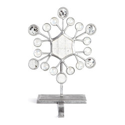 """Janice Minor - Snowflake Hexagonal Christmas Stocking Hook - Janice MinorSnowflake Hexagonal Christmas Stocking HookDetailsMade of wrought iron glass and mirror.7""""W x 4""""D x 11.5""""T.Imported. Designer About Janice Minor:Introduced in 1986 the Janice Minor collection soon established itself as a fashionable name in furniture and home accessories. Designer Janice Minor draws inspiration from her travels and fans love the designer's chandeliers which run from exotic to classics with a twist along with her mixed-media epergnes among many other stylish tabletop options."""