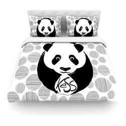 "Kess InHouse - KESS Original ""Panda"" Cotton Duvet Cover (Queen, 88"" x 88"") - Rest in comfort among this artistically inclined cotton blend duvet cover. This duvet cover is as light as a feather! You will be sure to be the envy of all of your guests with this aesthetically pleasing duvet. We highly recommend washing this as many times as you like as this material will not fade or lose comfort. Cotton blended, this duvet cover is not only beautiful and artistic but can be used year round with a duvet insert! Add our cotton shams to make your bed complete and looking stylish and artistic! Pillowcases not included."