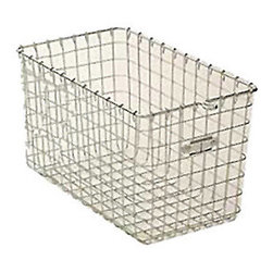 Steel Wire Basket - These steel wire baskets are ideal for storage that you want to see. They are an affordable option that would make a huge statement.