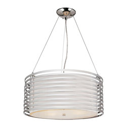 Trans Globe Lighting - Trans Globe Lighting Chrome Rails Modern/ Contemporary Pendant Light X-378-DNP - With a ribbed shade made of Polished Chrome, this Modern/Contemporary Pendant Light provides a see-through acrylic shade. Within the shade lies (4) 60W candelabra base that creates a simplistic yet elegant illumination.