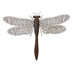 Benzara - Metal Dragon Fly Excellent Home Interior - METAL DRAGON FLY is an excellent anytime low priced wall decor upgrade option that is in high demand as modern age low budget home interior decoration item.