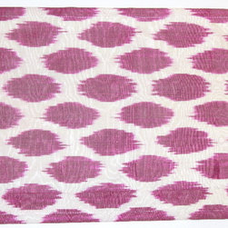 Purple Ikat Silk/Cotton Placemat - The tabletop is the perfect place to use exotic textiles. I love this color purple and the pattern, too.