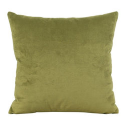 Howard Elliott - Bella Moss 16 x 16 Pillow - Change up color themes or add pop to a simple sofa or bedding display by piling up the pillows in a multitude of colors, textures and patterns. This Bella pillow features a lush velvet in a rich moss green.