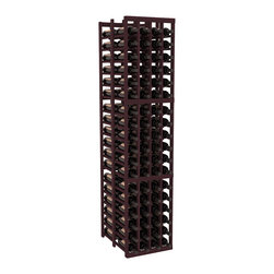 """Wine Racks America - 4 Column Double Deep Cellar in Redwood, Burgundy - Stores 12 cases of wine using less than 18"""" of wall space. The high capacity double deep wine rack is a great starting point and addition to any wine cellar. Engineered for strength and designed for beauty; you'll cherish these racking systems for a long time. These features are guaranteed."""