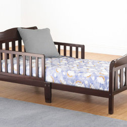 """Sorelle - Riley Toddler Bed - Features: -Solid wood toddler bed in choice of non-toxic.-Designed so toddlers can safely get in and out of bed.-2 Side safety rails prevent rolling out while they sleep.-Distressed: No.-Also Suitable for Adults: No.Specifications: -JPMA certified for safety.Dimensions: -Overall Height - Top to Bottom: 24.8"""".-Overall Width - Side to Side: 29.35"""".-Overall Depth - Front to Back: 53.9"""".-Overall Product Weight: 25 lbs."""