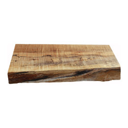 Cutting Board - Didn't you just love the live edge table and countertops ideabook on Houzz? I know that I am years and thousands of dollars away from that reality, but until then I can have my own beautiful live edge cutting board.