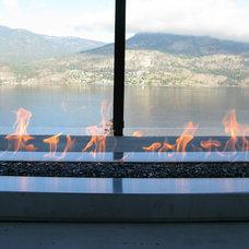 Modern Fire Pits by Okanagan Fireplace Den Ltd.