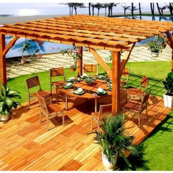 Ellsworth 13.5 x 13.5-ft. Premium Wood Pergola
