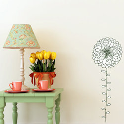 Floral Flower Vinyl Wall Decal - Vinyl Wall Decals are an awesome way to bring a room to life!