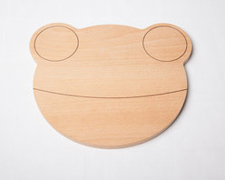 Wooden Breadboard, Frog by Studio Orijin - This frog-shaped breadboard makes food extra fun.