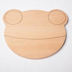 Wooden Breadboard, Frog by Studio Orijin - This frog-shaped breadboard makes food extra fun.
