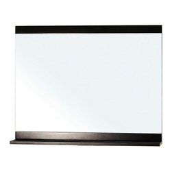 """Bellaterra Home - Rectangular Solid Wood Dark Espresso Mirror - Solid wood frame with black finish. High quality  glass to prevent rusting against bathroom humidity. Frame Dimensions: 35.4""""W X 29.5""""H x 4.3""""D; Finish: Dark Espresso; Material: Birch ; Beveled: No; Shape: Rectangular; Weight: 26.1; Included: Brackets, Ready to Hang"""