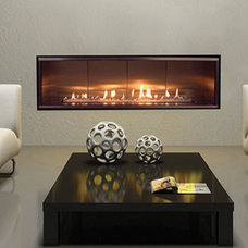Modern Direct Vent, Contemporary Electric & Open Front Gas Fireplaces, Stainless