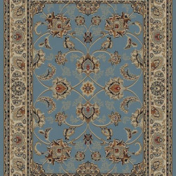 Ottomanson - Sage Traditional Oriental Design Rug - Royal Collection offers a wide variety of machine made modern and oriental design area rugs with durable, stain-resistant pile in trendy colors.