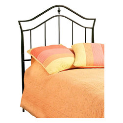 Hillsdale Furniture - Twin Imperial Duo Panel Headboard in Black Fi - 3-Leg twin/full headboard frame. Constructed of heavy gauge tubular steel. Minor assembly required. Headboard: 41.5 in. W x 50.5 in. H. Frame: 63.5 in. L x 54 in. WA simple and sophisticated silhouette is the trademark feature of Hillsdale Furniture's Imperial Bed. Classic spindles meet a graceful arched top rail, and frame a delicate shaped casting. Incised in a versatile twinkle Black, this bed is adaptable enough for any bedroom in your home.