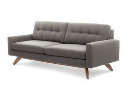 True Modern - Luna Sofa - Retro style and modern lines combine for this truly Jetsons-style sofa. And you'll feel like you're hovering in space when you sit down on this comfortable and classic number by Edgar Blazona.