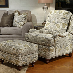 Huntington House products - Huntington House 8101-VT chair with matching ottoman