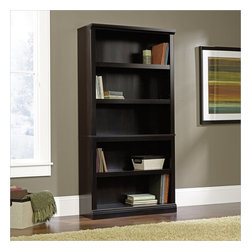 Sauder - Sauder Select 5 Shelf Bookcase in Estate Black Finish - Sauder - Bookcases - 414235