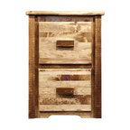 Montana Woodworks - Montana Woodworks Homestead 2 Drawer File Cabinet Stained and Lacquered - From Montana Woodworks, the largest manufacturer of handcrafted, heirloom quality rustic furnishings in America comes the Homestead Collection line of furniture products. Handcrafted in the mountains of Montana using solid, American grown wood, the artisans rough saw all the timbers and accessory trim pieces for a look uniquely reminiscent of the timber-framed homes once found on the American frontier. Similar to the four drawer file cabinet, just smaller for a different look, different usage. This two drawer unit features all of the top of the line features of our standard four drawer file cabinet such as being hand crafted using solid, American grown wood, full extension ball bearing slides, etc. Letter sized file drawers. Comes fully assembled. 20-year limited warranty included at no additional charge.