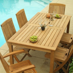 """Brunswick 6 Person Dining Set - This Brunswick Dining Set includes 1 72"""" Table, 4 Folding Side Chairs and 2 Folding Arm Chairs."""