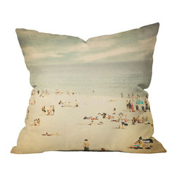 Shannon Clark Vintage Beach Pillow - Why get stuck in a miles-long traffic jam to the beach when you can have your own beach on your couch?