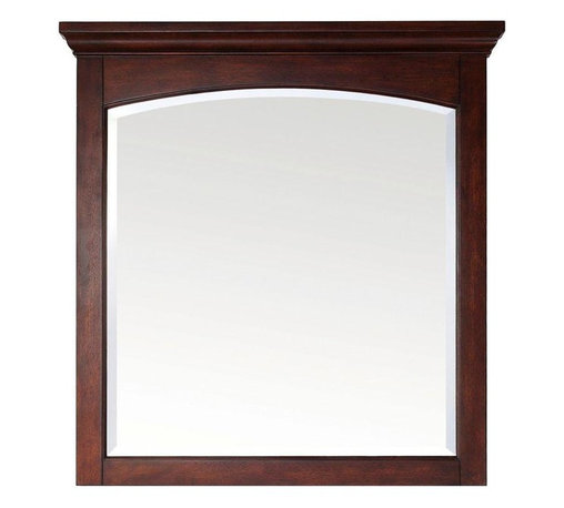 Pegasus - Pegasus Vermont 36 in. x 38 in. Framed Wall Mirror in Birch Mahogany (9078-M36) - Vermont 36 in. W x 38 in. L Birch Mahogany Framed Wall Mirror