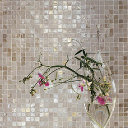 Statements Tile - Melange Chiaro - Lustrous mosaic glass tile.