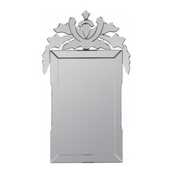 """Cooper Classics - Jansen Silver Rectangular Mirror - Lighten and brighten a room with the stunning St. George mirror.  This stunning frameless wall mirror will make a wonderful addition to any decor. Frame Dimensions: 27.5""""W X 47.5""""H; Mirror Dimensions: 17""""W X 29.5""""H; Finish: Frameless; Material: Frameless mirror; Beveled: No; Shape: Rectangular; Weight: 35; Included: Brackets, Ready to Hang Vertically or Horizontally"""