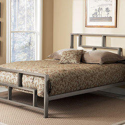 None - Bronx Full-size Bed - Update any bedroom with this elegant full-sized bed from the Bronx collection. The powder-coated steel-framed bed features a stylish geometric pattern and deck that you can adjust to accommodate a mattress alone or incorporate a box-spring.